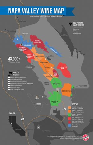 Napa Valley Wine Folly Map